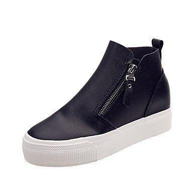 Rtry Femme Talons Chaussures Formelles Confort Pu Pièces Drop & Amp; Robe De Soirée Marche Talon Compensé En Noir Et Blanc 2a-2 3 / 4en Us5.5 / Eu36 / Uk3.5 / Cn35