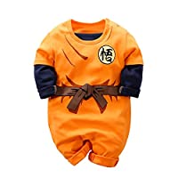 Bealbaby Shopping Baby Strampler Goku Overall Langarm Cartoon Rolle die Baby Kleidung Spielt Orange