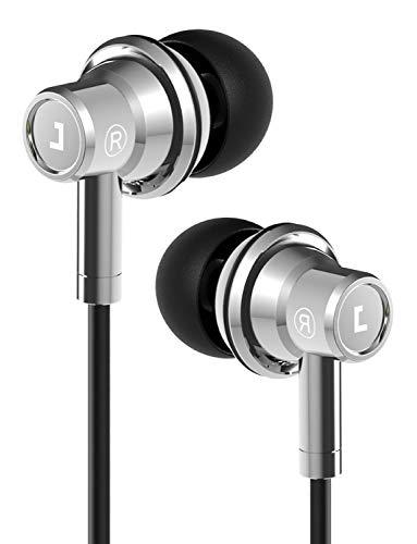 Jayfi JEB-101 UFO Form In-Ear Kopfhörer, Stereo-Bass-Ohrhörer aus Hybrid-Metall mit Ohrstöpseln aus Memory-Schaum, Verbund-Doppelmembran-Kopfhörer mit Mikrofon, 5 Jahre Garantie