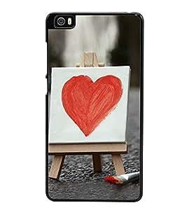 Bright Red Heart 2D Hard Polycarbonate Designer Back Case Cover for Xiaomi Mi 5 :: Redmi Mi5