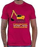 Die besten unbekannt Geschenk für Brüder - HARIZ Herren T-Shirt Tausche Bruder Gegen Bagger Bagger Bewertungen