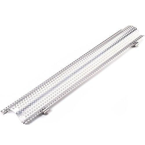 Aluminium Laubschutzgitter (2 Meter lang) für Dachrinnen Größe: 333mm gewölbtes Lochblech mit Halteclips