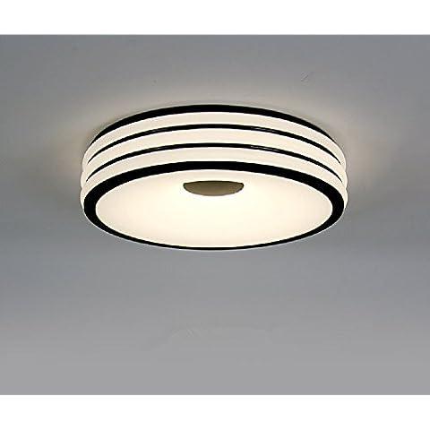 Ooccasion Moderno E Minimalista Led Luce A Soffitto Camera Da Letto Rotondo Soggiorno Accese Le (Peltro Spazzolato Due Luce)
