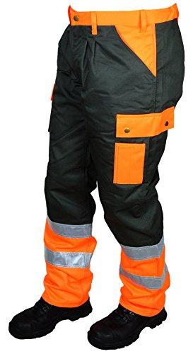 Arbeitshose MSM Workwear 702 - moosgrün-orange - Signalfarbe - Reflektionsstreifen - Gemeinde - Straßenbau - Facharbeiter (58)