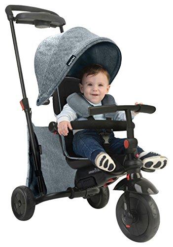 SMARTRIKE - Tricycle Évolutif Pliant Smartfold 500 Mélange, 8477, Gris