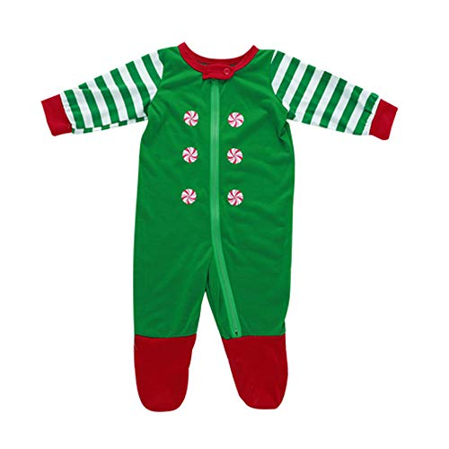 Weihnachten Set Eltern-Kind Kleidung Streifen Drucken Bluse T-Shirt Oberteile + Hosen Anzug Streifenhose Mode Casual Baumwoll-Pyjama Allence