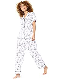 302d960926eba Huggs Luxury 100% Cotton 2pc Full Length Pyjama Set for Women Super Soft  Cotton Pyjamas