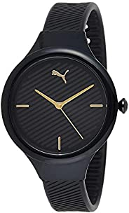 Puma Contour Women's Black Dial PU Leather Analog Watch - P