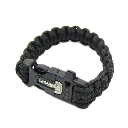 estone-survival-paracord-bracelet-flint-fire-starter-scraper-whistle-gear-kits-black