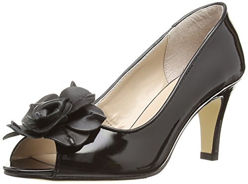 Lotus - Belinda, scarpe con tacco  da donna Nero (Noir (Black Patent Leather))