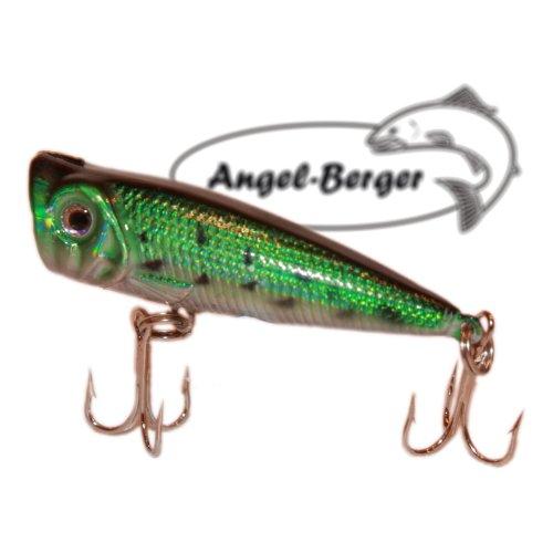 Popper Oberflächenköder 3D Wobbler Green Crocodile Angel Berger Hardbait