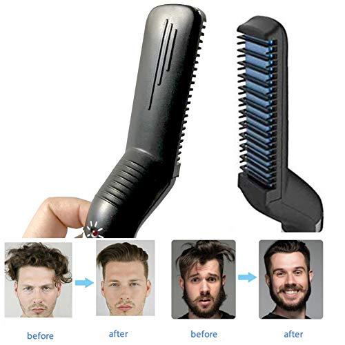 Enderezamiento cabello multifuncional hombres, peine