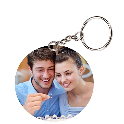 Sprinklecart Round Shape Personalized Keychain