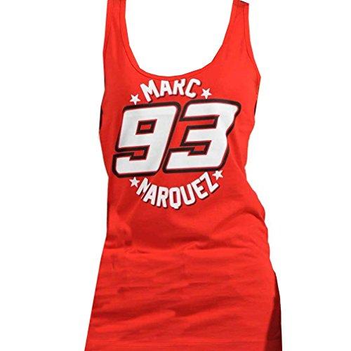 Marc Marquez 93 Moto GP Womens Vest Tank Top rosso ufficiale Nuovo