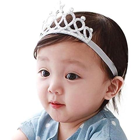 Yistu 2PCS Chica cabeza accesorios bebé diadema elástica flor corona sombreros