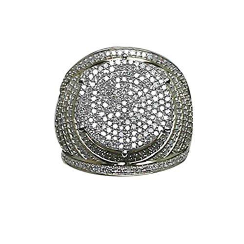 UINGKID Schmuck Damen Ring Luxuriöser Domineering übertriebenes Gold Voller Diamanten Ring Ring Schmuck -