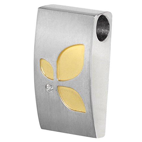 Boccia Damen-Anhänger Titan mattiert Diamant (0.005 ct) weiß Brillantschliff - 07003-03