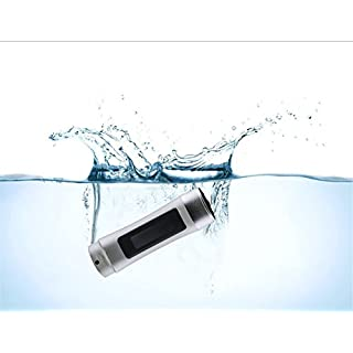 Lecteur MP3 étanche SmartEra®, avec écran LCD et radio - Pour natation, spa, surf, course, escalade, etc. - Couleur argent