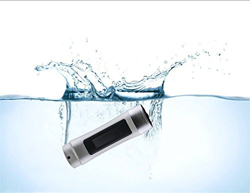 smartera® 4GB Wasserdicht Unterwasser MP3mit LED Display + FM Radio Anzug für Schwimmen, SPA, Surfen, Joggen, Klettern und andere Sport (Sliver)