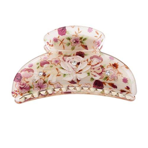 Fantaisie Floral Griffe Pince à Cheveux Clip Barette à Cheveux de Mode pour Femme - #5