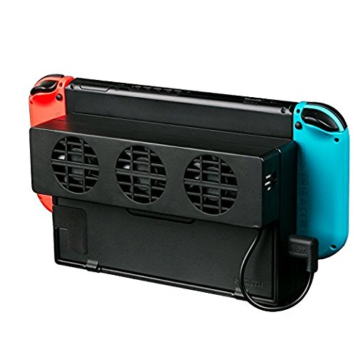 Nintendo Ventola di Raffreddamento, Likorlove Dock Station USB Esterna con 3 Ventole ad alta Velocità per Nintendo Switch Dock