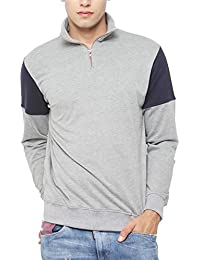 SayItLoud Solid Men Polo Neck SweatShirt