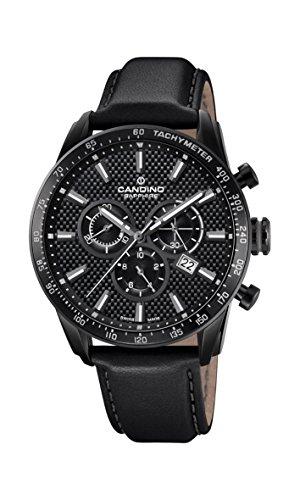 Candino Herren Chronograph Quarz Uhr mit Leder Armband C4683/4