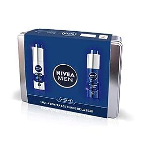 Nivea Men Pack Active Age, Caja de Regalo, Fluido Hidratante Facial de Día 1 x 50 ml y Crema Regeneradora de Noche 1 x…