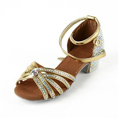 Silence @ pour femme Similicuir/strass Upper Sangle de cheville latine/Salsa Dance Performance Chaussures Silver