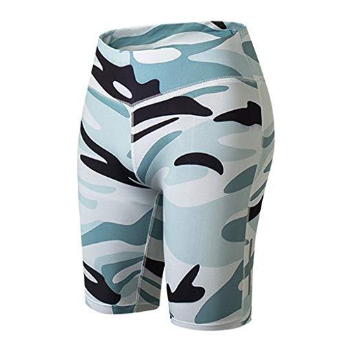 AIni Damen Yoga Hosen Sale Mode Beiläufiges 2019 Neuer Fitness Yoga Pants Reflective Strip Nachtlauftraining Fünf Minuten Yoga Leggings Trainingshose Sport Fitness Hosen(S,Weiß)