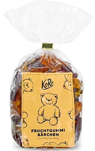 Preisvergleich Produktbild BIO Fruchtgummibärchen Ohne Gelatine / Vegan / Vegetarisch / 500 g Packung / KoRo / Vorteilspackung / Süßigkeit / Süß