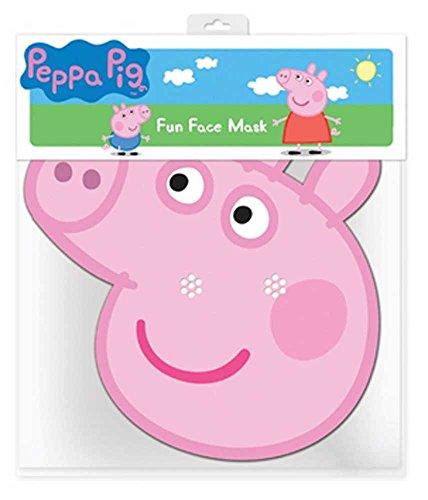 Peppa Pig Peppa Pig - Maske Papp Maske, aus hochwertigem Glanzkarton mit Augenlöchern, Gummiband - Grösse ca. 30x20 cm