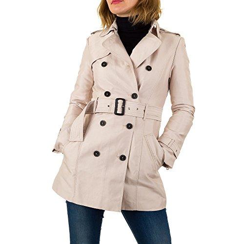 Trenchcoat Kurz Mantel Für Damen , Creme In Gr. Xl bei Ital-Block out