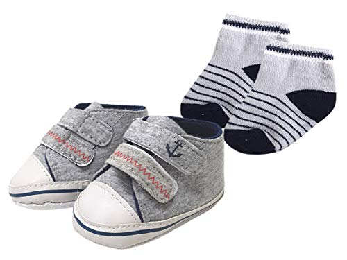 Set Babyschuhe und Socken Anker 3-12 Monate Erstausstattung Baby Schuhe Söckchen