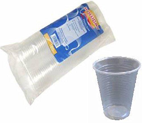 S/s-cup-dispenser (Transparente Kunststoffbecher, 200Stück, klein, 190ml Einweg- oder Mehrwegbecher für Party, Cafés, Wasserspender)