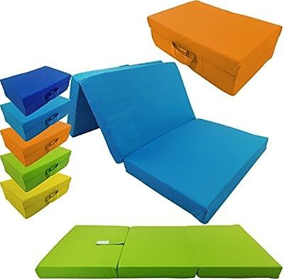 Colchón plegable para niños de proheim 120 x 60 x 6 cm - colchón de viaje para niños transportable