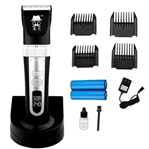 Preisvergleich Produktbild Haarschneidemaschinen für Männer,  Schnurloses Selbsttrimmer-Kit für Herren,  wiederaufladbar Bis zum Ende drücken (Color : Black)