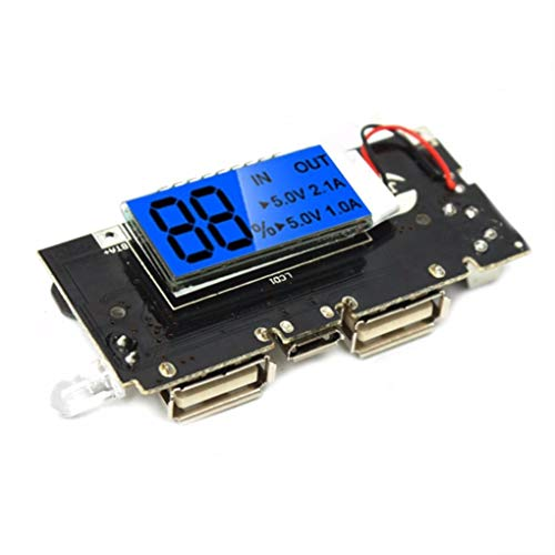 Yongse 3Stk Dual USB 5V 1A 2.1A Mobile Power Bank 18650 Batterieladegerät PCB Modul Board - 5v 1a Dual-usb -