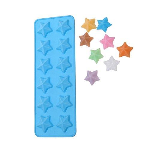 Hemore Sterne in Form von Schokolade, Backwaren, Süßigkeiten, Silikonform, zum Backen von Kuchen, Cupcakes Star Chocolate Mold