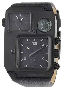 Diesel DZ1318 Gents Black Leather Strap Balck Multi Dial Watch