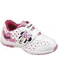 Lois Minnie Mouse–Hermosa rosa recortar Zapatillas con cierre de velcro (Talla 29