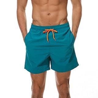 Arcweg Herren Jungen Badeshorts Kurz Badehose Vielfarbig Schnelltrocknend Beachshorts Boardshorts Strand Shorts Blau-G S(EU)-MarkeGröße M