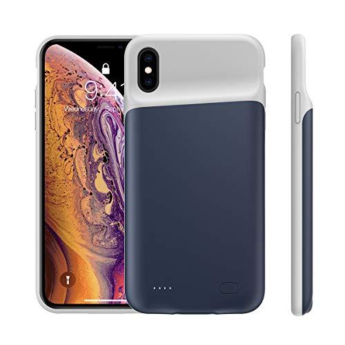 d21f78e2196 Compatible con iPhone XS MAX Funda Batería, 5200mAh Batería Recargable  Externa Power Bank Backup Ultra Delgada Protector portáti