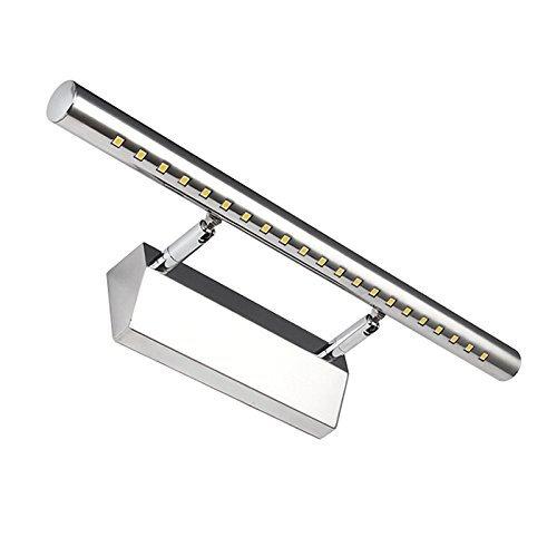 Dailyart® 5w Winkel einstellbar Edelstahl 5050SMD LED Wandleuchte Spiegellicht Badlampe Badleuchten 40*5*10.5CM (Warmweiß)