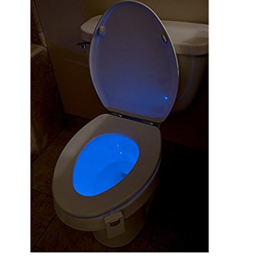 lampe de cuvette toilette 16 changement de couleurs led veilleuse d tecteur de mouvement capteur. Black Bedroom Furniture Sets. Home Design Ideas