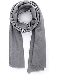 Made dans Kashmir  Cachemire Ressentir Écharpes Hiver 18-19 La laine Soie  Mélange Épais Foulards Aux femmes Pour… 2df8d194cc9
