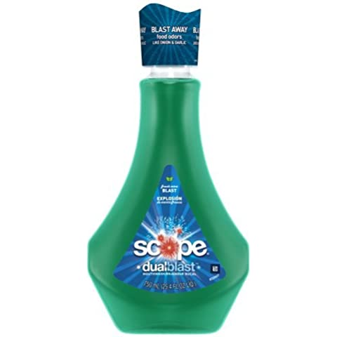 Scope Dualblast Mouthwash Fresh Mint Blast 750 Ml by