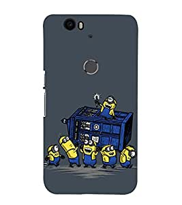 printtech Minions Checkpost Back Case Cover for Motorola Google Nexus 6P
