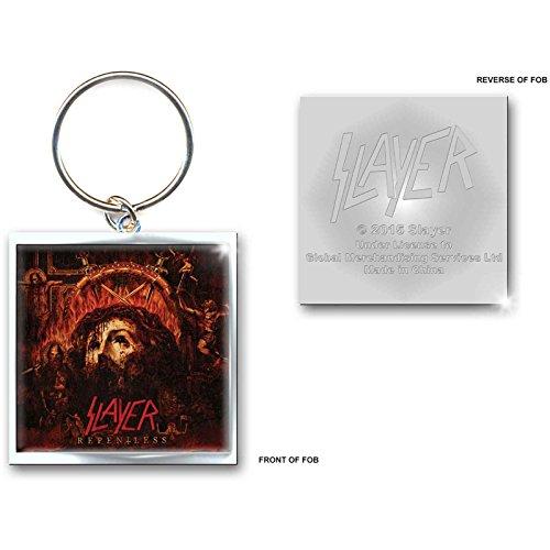 Slayer Keychain Repentless band logo Nue offiziell Metal Schlüsselring (Metall-anarchie-symbol)