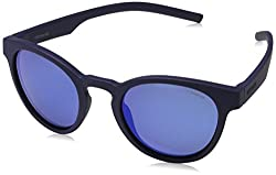 Polaroid Mirrored Round Womens Sunglasses - (PLD 7021/S PJP 495X|49|Blue Color)